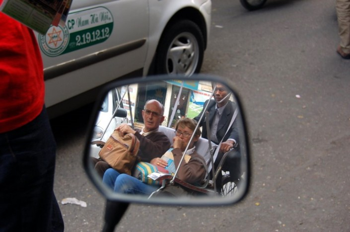 Tourists in rickshaw